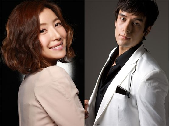 Actress Yoon Se-ah (left) and model and actor Julien Kang (right) pose for profile pictures. [MGB Entertainment/Show Brothers Entertainment]