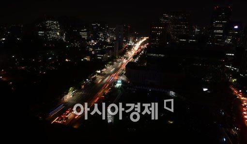 [포토]어둠에 잠긴 서울시내