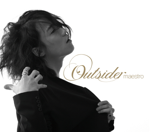 "Korean rapper Outsider poses in the cover photo of his second full-length album ""Maestro,"" released on June 1, 2009. [Sniper Sound]"
