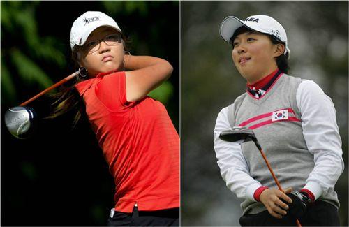 리디아 고(왼쪽)와 김효주.