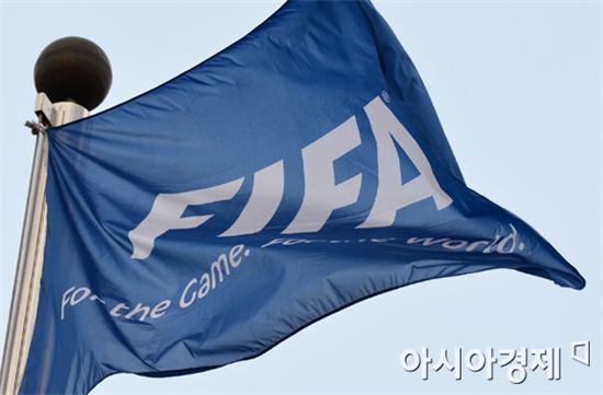 FIFA 깃발[사진=아시아경제 DB]