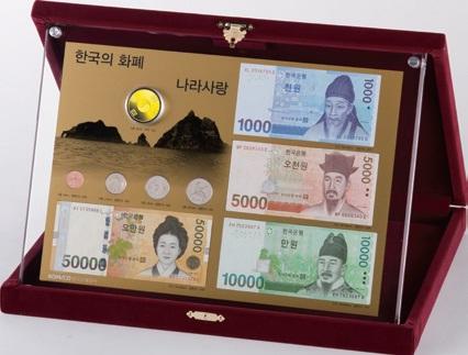 한국조폐공사가 독도의날인 25일 출시한 '나라사랑 금메달 세트'.