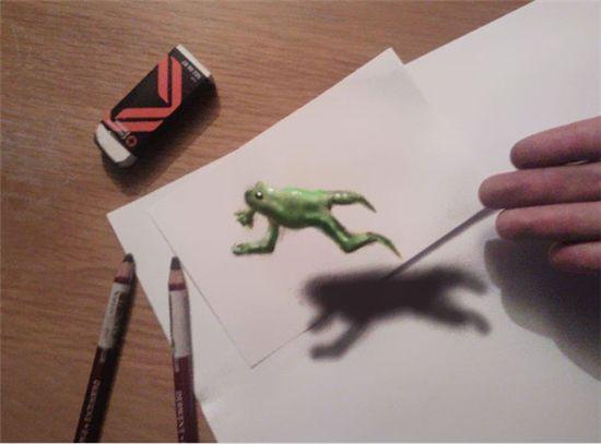 """""""이게 가짜?""""…연필로 그린 3D 그림에 입이 '쩍'"""