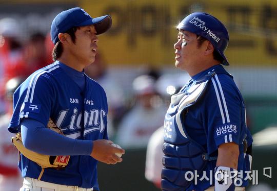 [포토] 배영수 '오늘 컨디션이 영~'