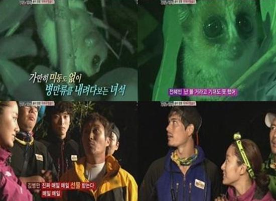 SBS '정글의 법칙2' 밤의 정령 '쥐여우원숭이' 만난 병만족