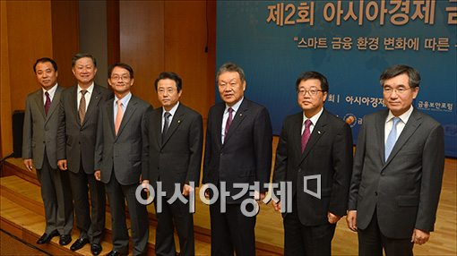 [포토]금융 IT포럼 참석한 권혁세 금감원장