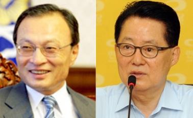 ▲민주통합당 이해찬 대표(사진 왼쪽)과 박지원 원내대표.