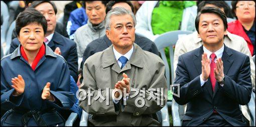 [포토]참석한 세명의 대선후보