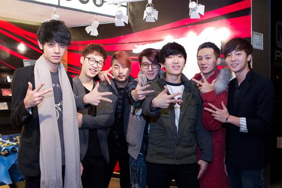 <슈스케 4>의 TOP 4 정준영, 홍대광, 딕펑스, 로이 킴. (왼쪽부터)