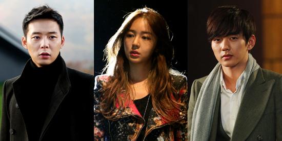 '보고싶다'에 등장하는 세배우. 왼쪽부터 박유천 윤은혜 유승호
