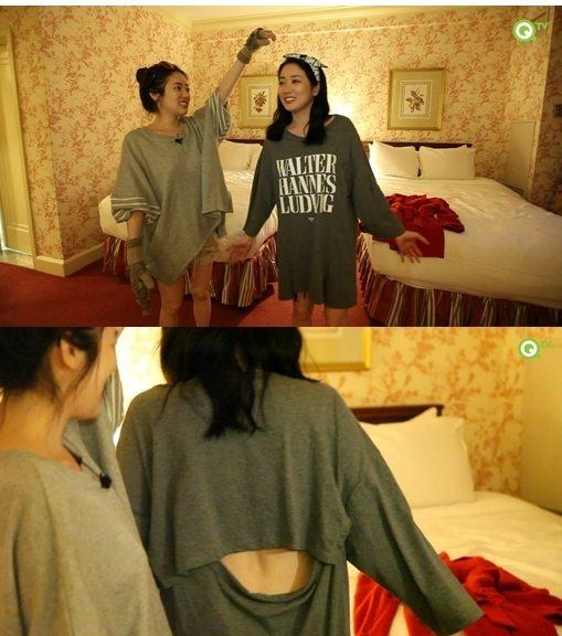 최정원 반전 잠옷/출처: QTV
