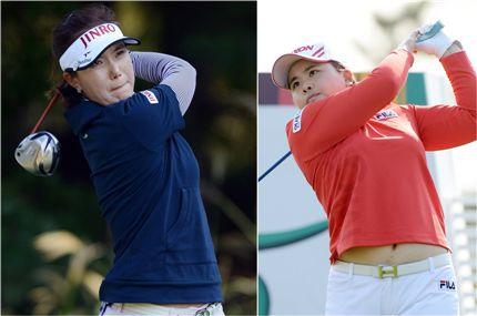 전미정(왼쪽)과 박인비.