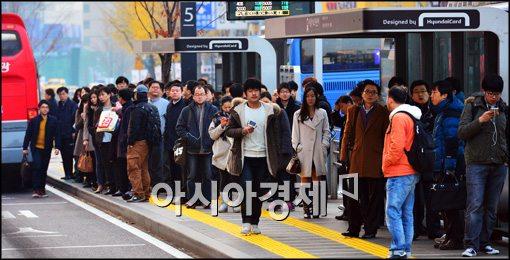 [포토]버스 파업 종료, 출근길 이상무