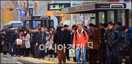 [포토]버스 파업 종료, 출근길 원활