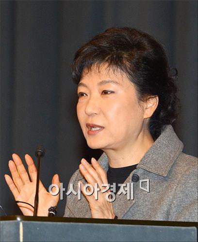 """박근혜 """"야권 단일화, 누가 더 쉬운지 관심없다"""""""