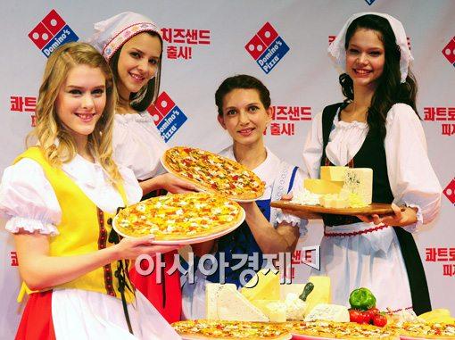[포토]유럽 치즈의 풍미를 느낄 수 있는 '콰트로 치즈샌드 피자'