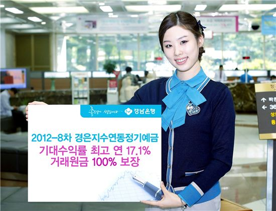 경남은행, 최고 연 17.1% 수익의 '2012-8차 경은지수연동정기예금(ELD)' 출시