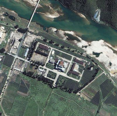 위성으로 촬영된 영변핵시설