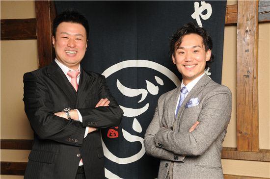 토키요시 히로마사 대표와 한국 내 법인을 맡아 운영할 후쿠시마 나오야 지사장(오른쪽).