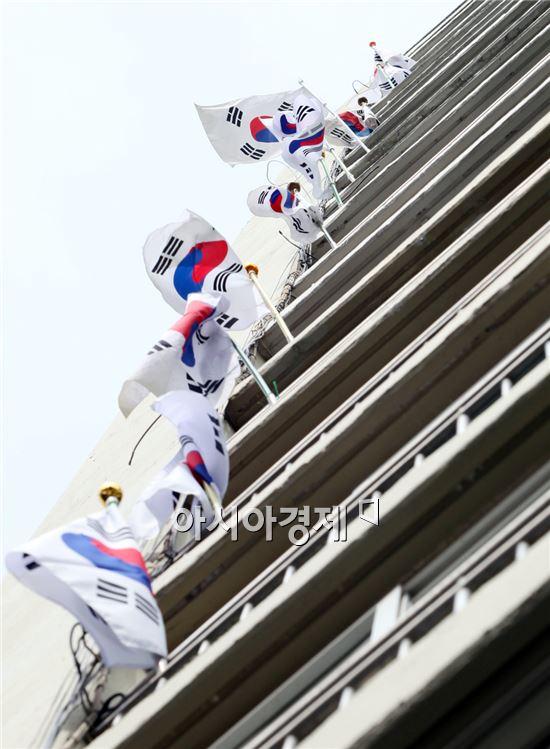 광주시 동구, 태극기달기 운동 전개 주민들 큰 호응