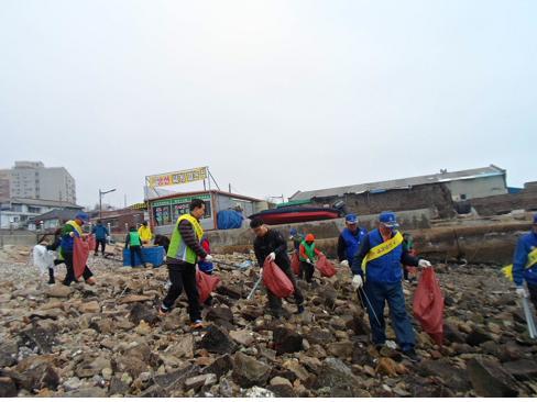 목포시 유달동 주민센터, 해안도로변 꽃길 조성