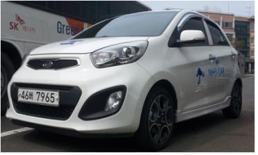 ▲암모니아-가솔린 혼소 자동차