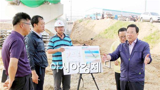 정기호 영광군수, 수해복구 건설사업장 점검