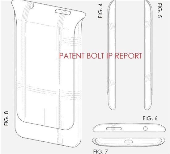 삼성, 美서 '색다른' 스마트폰 디자인 특허 획득