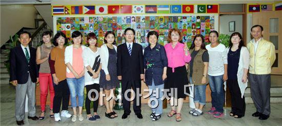 지병문 전남대 총장, 추석 맞아 사회복지시설 방문