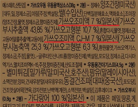 """""""일본산 노이로제에 우동도 못먹겠다""""…우동 판매 '뚝'"""