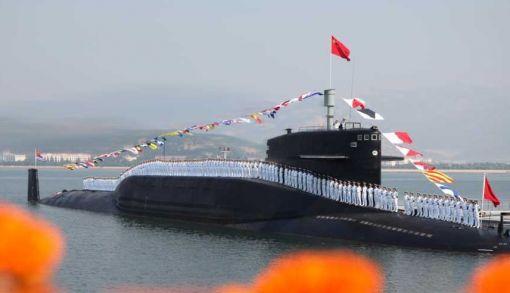 중국 관영 신화통신 공개한 샤급 핵잠수함과 승조원들