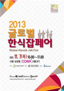 한식재단, '2013 글로벌 한식 잡페어' 개최