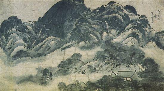 인왕제색도. 출처: 문화재청, 리움미술관 소장