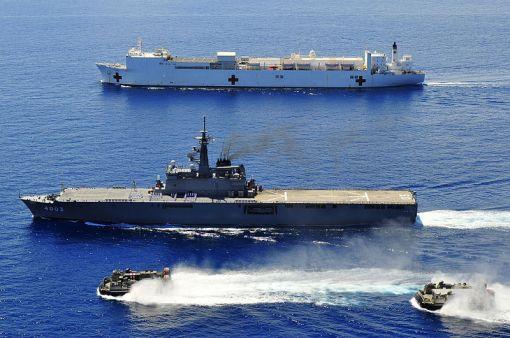 일본 해상자위대 한국 요청땐 소해정 등 구조 지원.