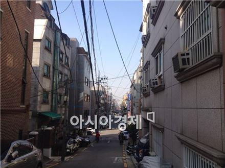 서울시 관악구 봉천돈 일대 원룸촌