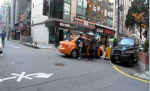 서울시가 2013년 12월 실시한 택시 합승 단속 장면