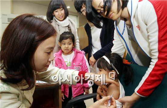 [포토]광주북구 보건소, 영유아 예방접종