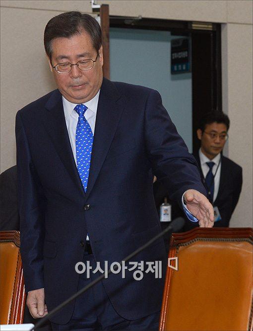 [포토]법사위 참석하는 황찬현 감사원장