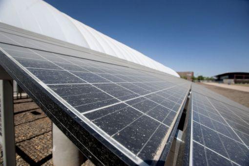 ▲ 미국에 설치된 태양광패널