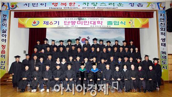 정읍시농업기술센터, '단풍미인대학' 졸업식 개최