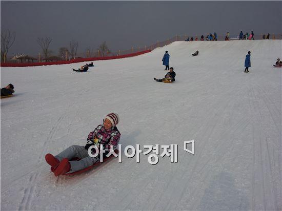 서울 상암동 월드컵공원내 눈썰매장. 사진제공=서울시