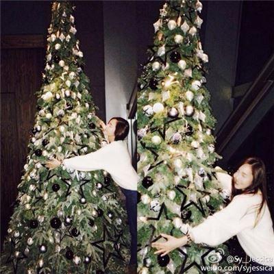 ▲제시카 크리스마스 인증샷(출처: 제시카 웨이보)