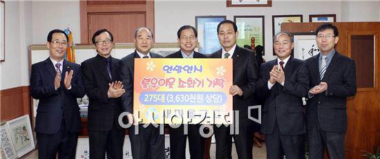 [포토]새마을금고 광주시 북구협의회,북구청에  소화기 전달