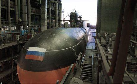 30일 러시아 해군에 정식 인도된 야센급 핵잠수함 1번함