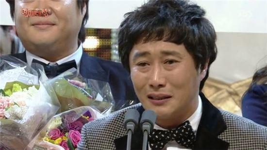 시상식 최고의 1분, 주인공은 김병만 '눈물+감동의 도가니'