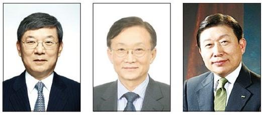 이재성 현대중공업 회장, 박대영 삼성중공업 사장, 고재호 대우조선해양 사장 (왼쪽부터)