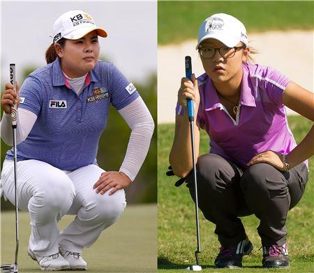 박인비(왼쪽)와 리디아 고.