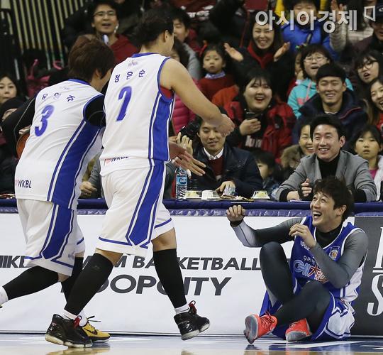 [포토] 김혁 '누나들 무서워요'
