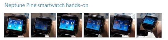'스마트폰을 시계로' 넵튠 파인 CES2014 등장
