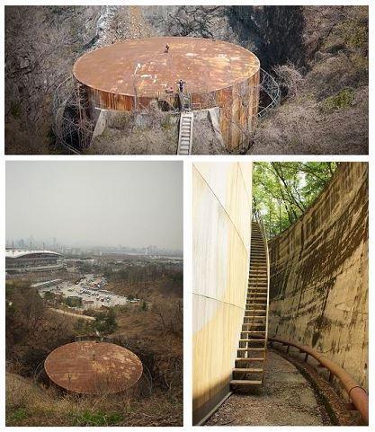 마포 석유비축기지 내 석유탱크 (자료 : 서울시)